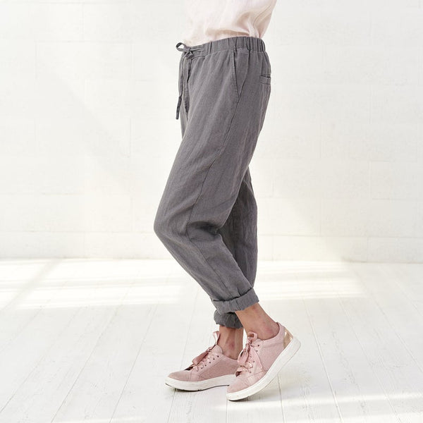 Cropped Linen Yoga Pants Women - Bomberish
