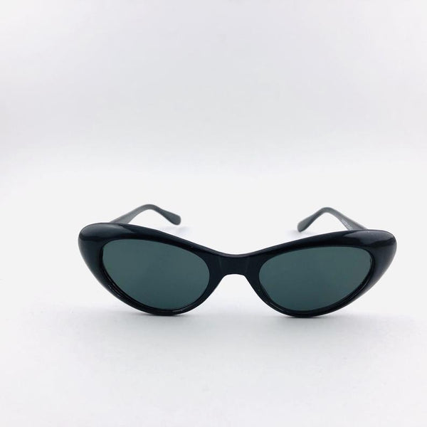 Triangular Frame Black Deadstock Cateye Sunglasses - Bomberish