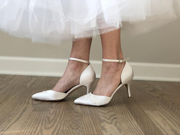 Ivory Wedding Pumps - Bomberish