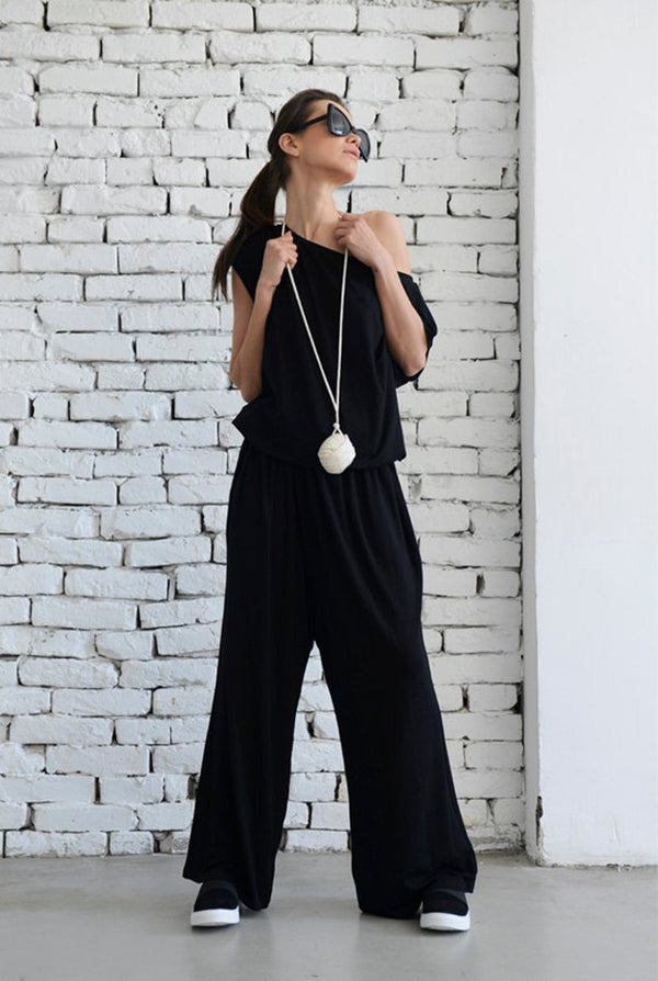 Black Loose Jumpsuit - Bomberish