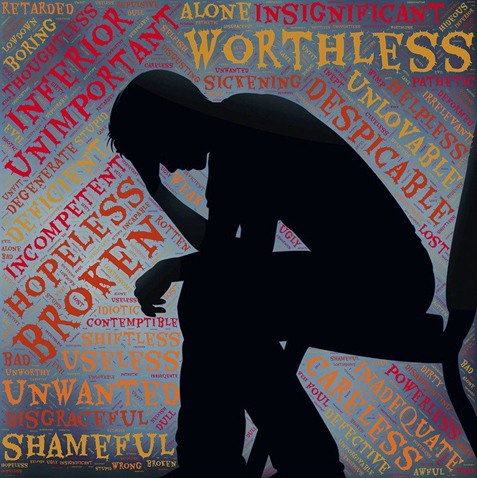 an illustration of a depressed person