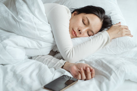 picture showing woman sleeping peacefully