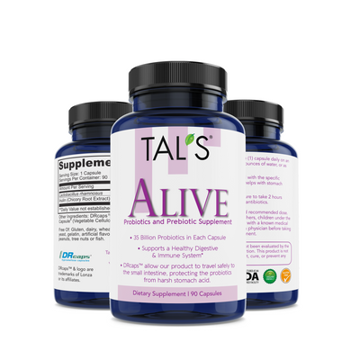 Probiotics and Prebiotics: TAL'S Alive is the very best Probiotics and Prebiotics out there!