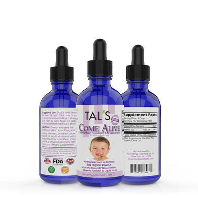 D3 Children. Come Alive Infant/Children Formula 0-14 years of age. 400IU of D3 in each drop!