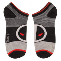 3-Pair Marvel Deadpool Ankle Socks - Style 1