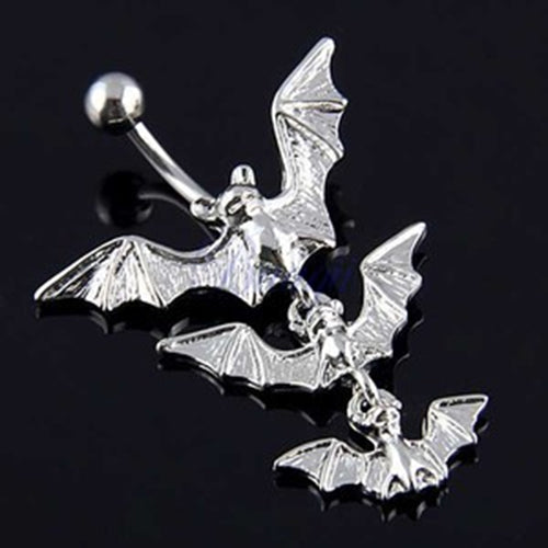 Flying Bats Belly Button Ring
