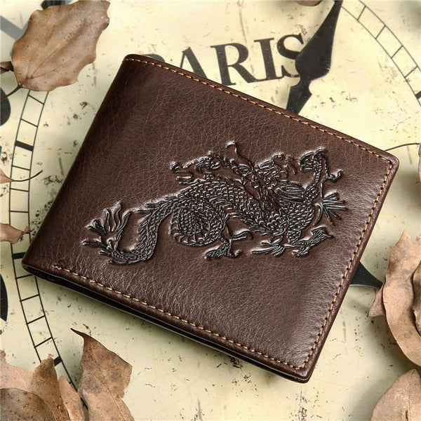 Chinese Dragon Genuine Leather Wallet (3 Styles)