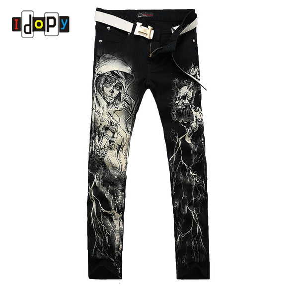 Gothic Painted Straight Jeans