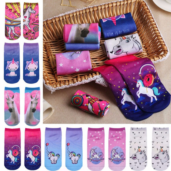 Unicorn Printed Socks (Multiple Styles)