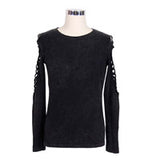 Men's Gothic Top w/Torn Sleeves