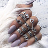 Women's Goddess 12-Piece Ring Set