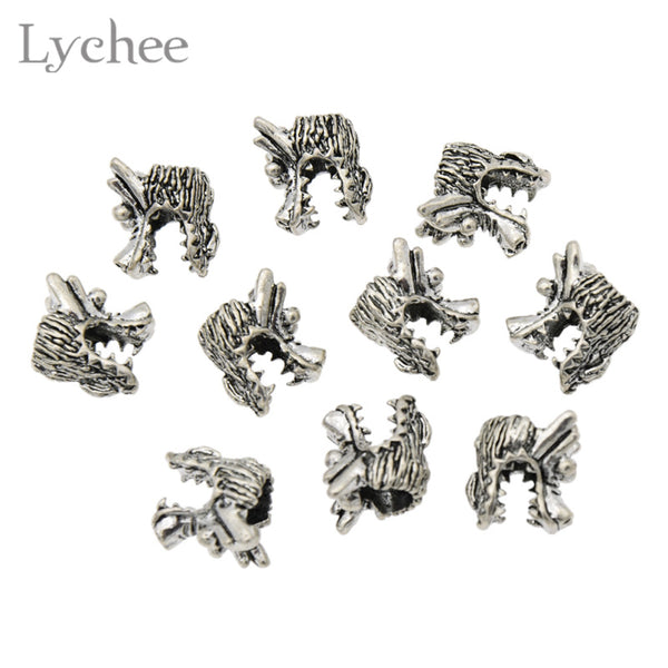 Dragon Head 6mm Dreadlock Beads (10 Pieces)