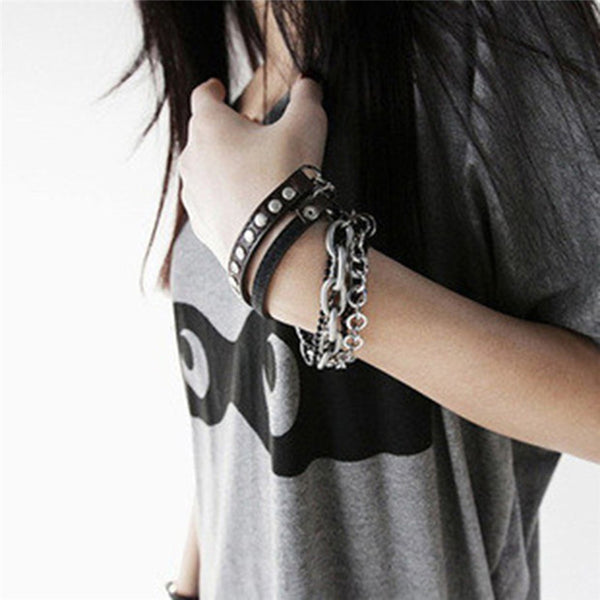 7-Layer Punk Bracelet Set