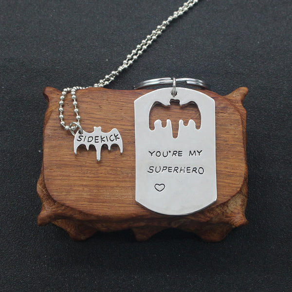 You're My Superhero/Sidekick Couples Necklace