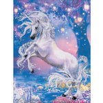Moonlit Unicorns DIY Cross Stitch Kit