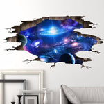 3D Galaxy Wall Paper Decoration