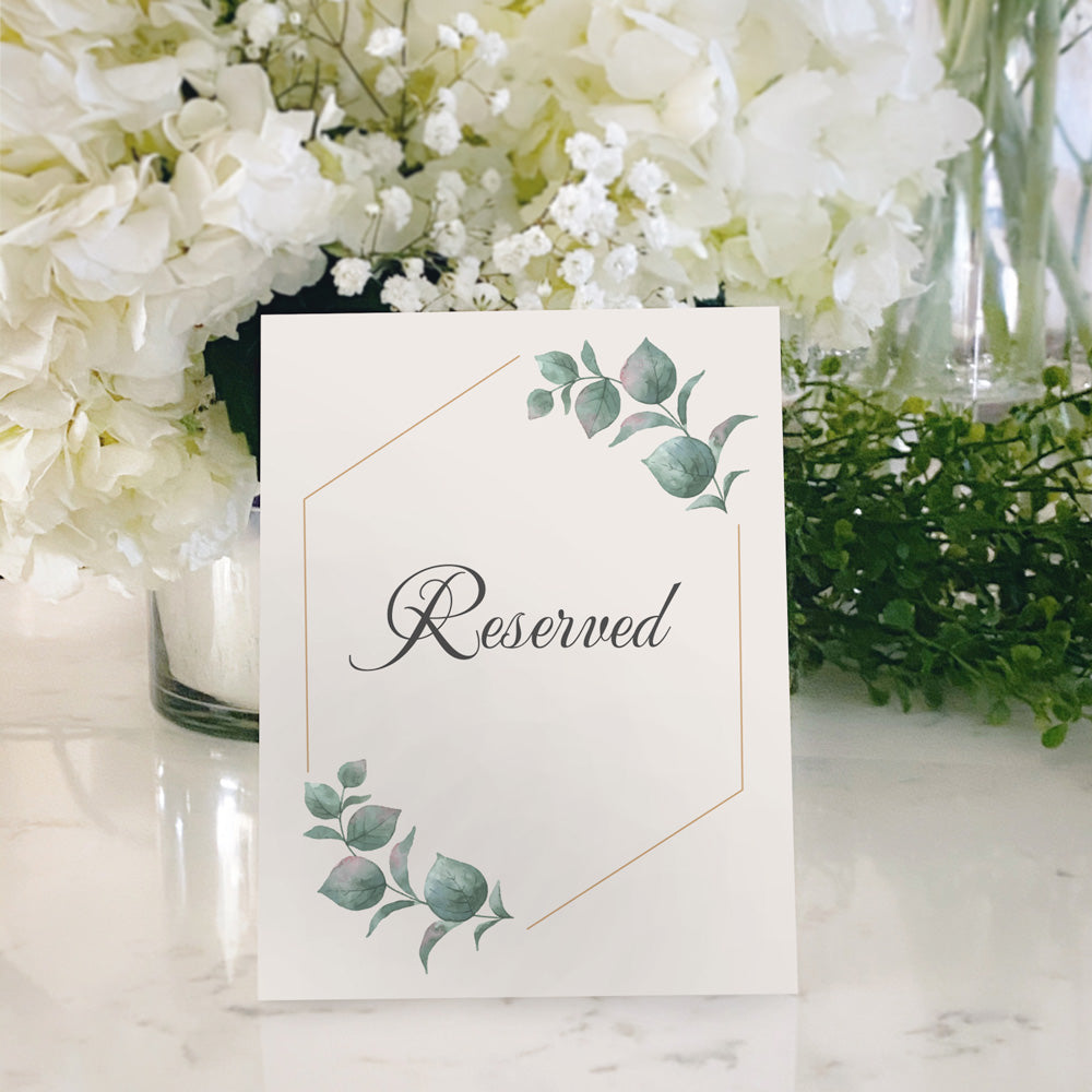 Table Tent Numbers, Reserved and Bar Signs [Natalie]