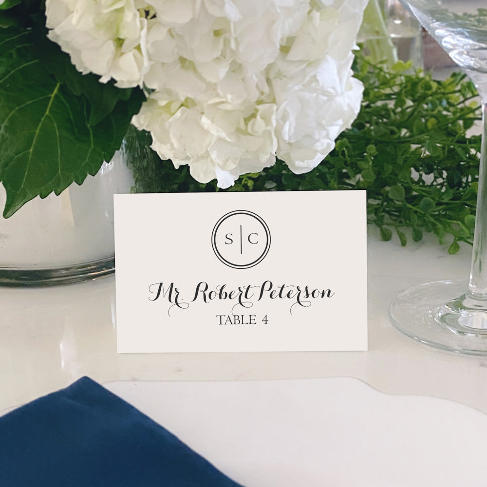 Escort and Place Cards Personalized [Bailey]