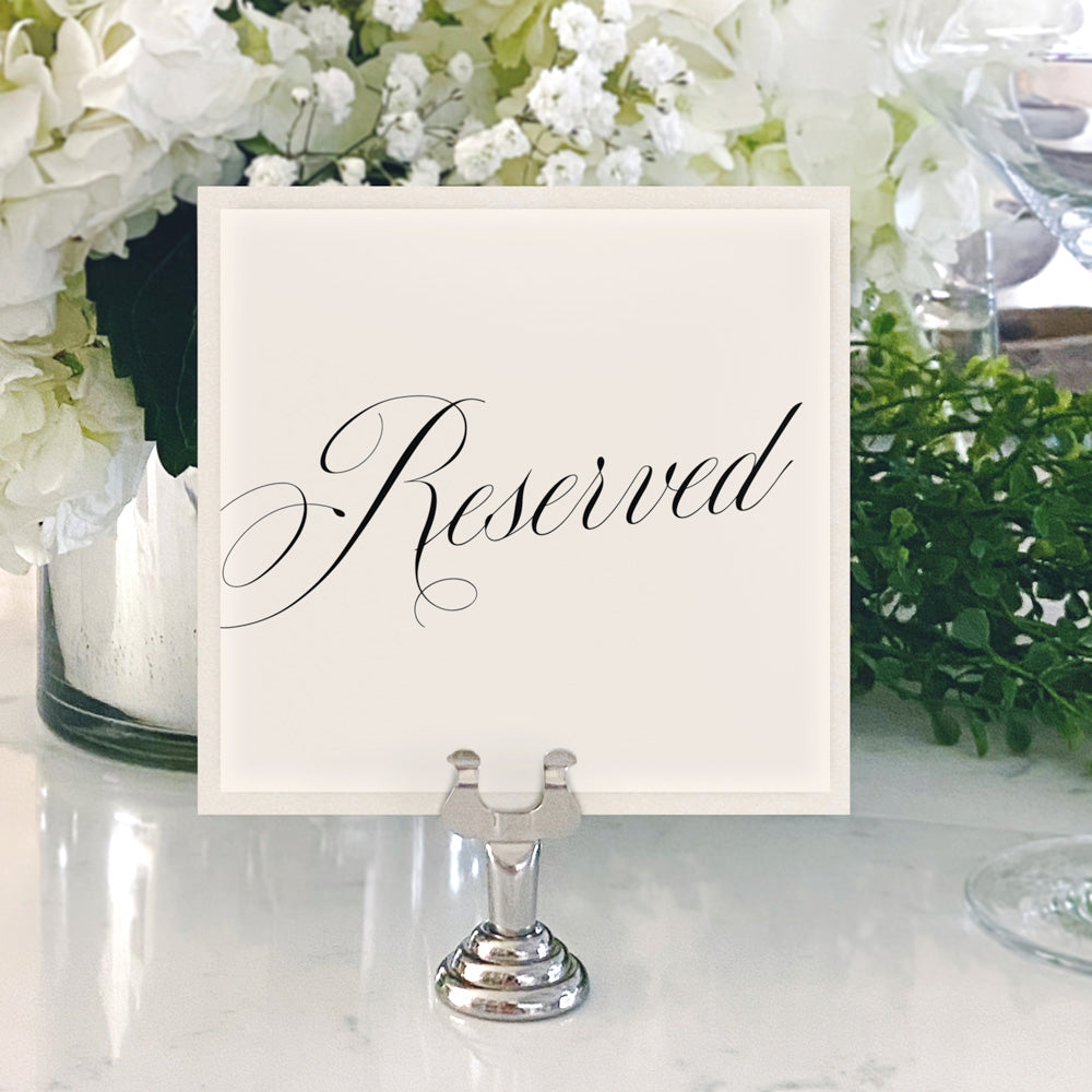 Table Numbers and Reserved Signs [Evelyn]