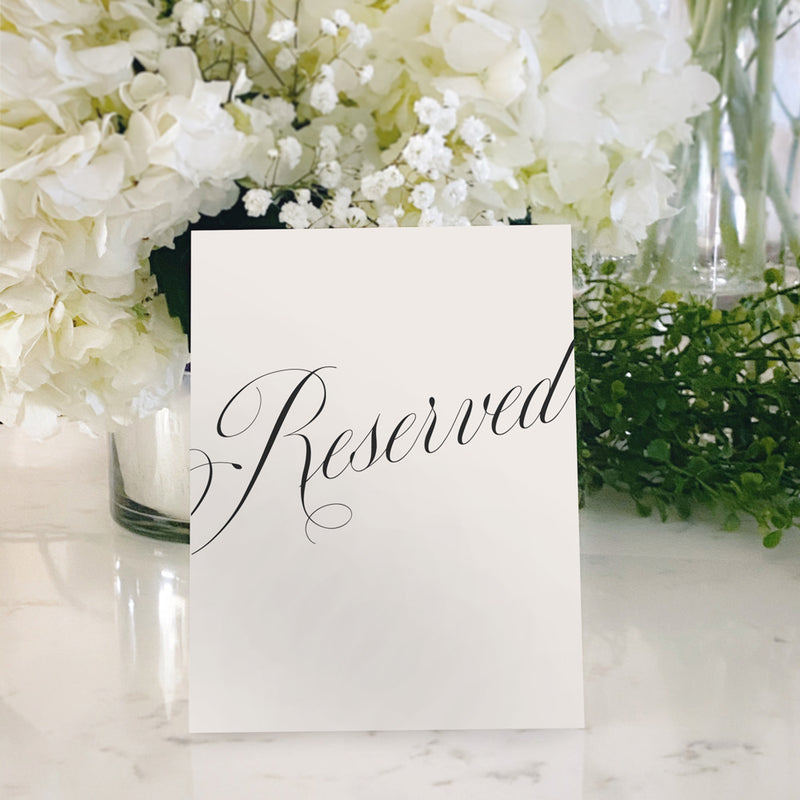 Table Tent Numbers, Reserved and Bar Signs [Evelyn]