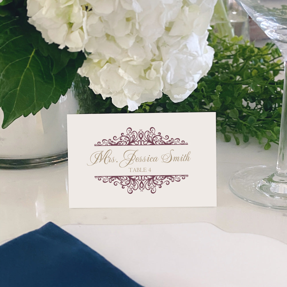 Escort and Place Cards Personalized [Jackie]