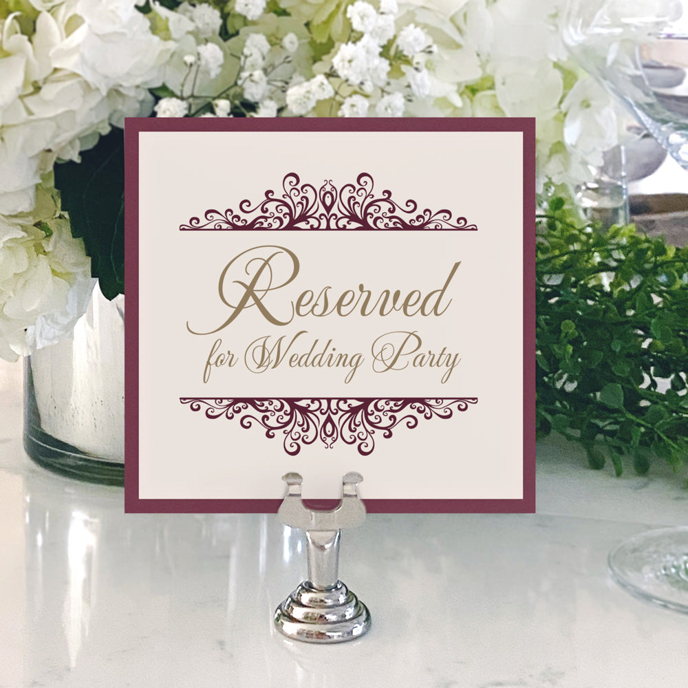 Table Numbers and Reserved Signs [Jackie]