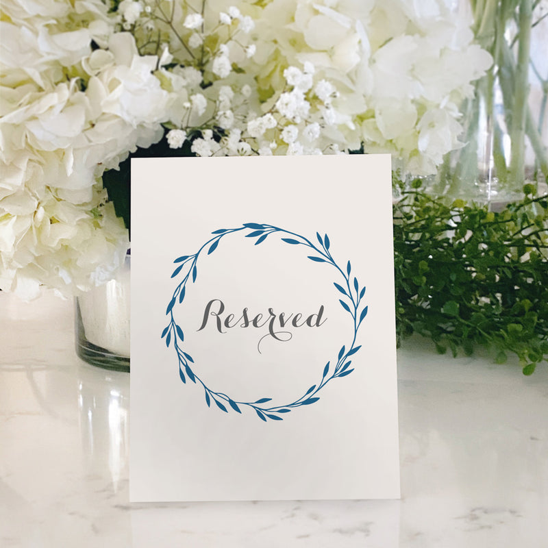 Table Tent Numbers, Reserved and Bar Signs [Jennifer]