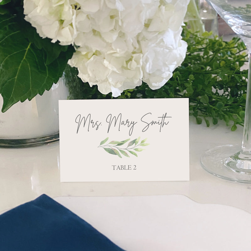 Escort and Place Cards Personalized [Jessica]