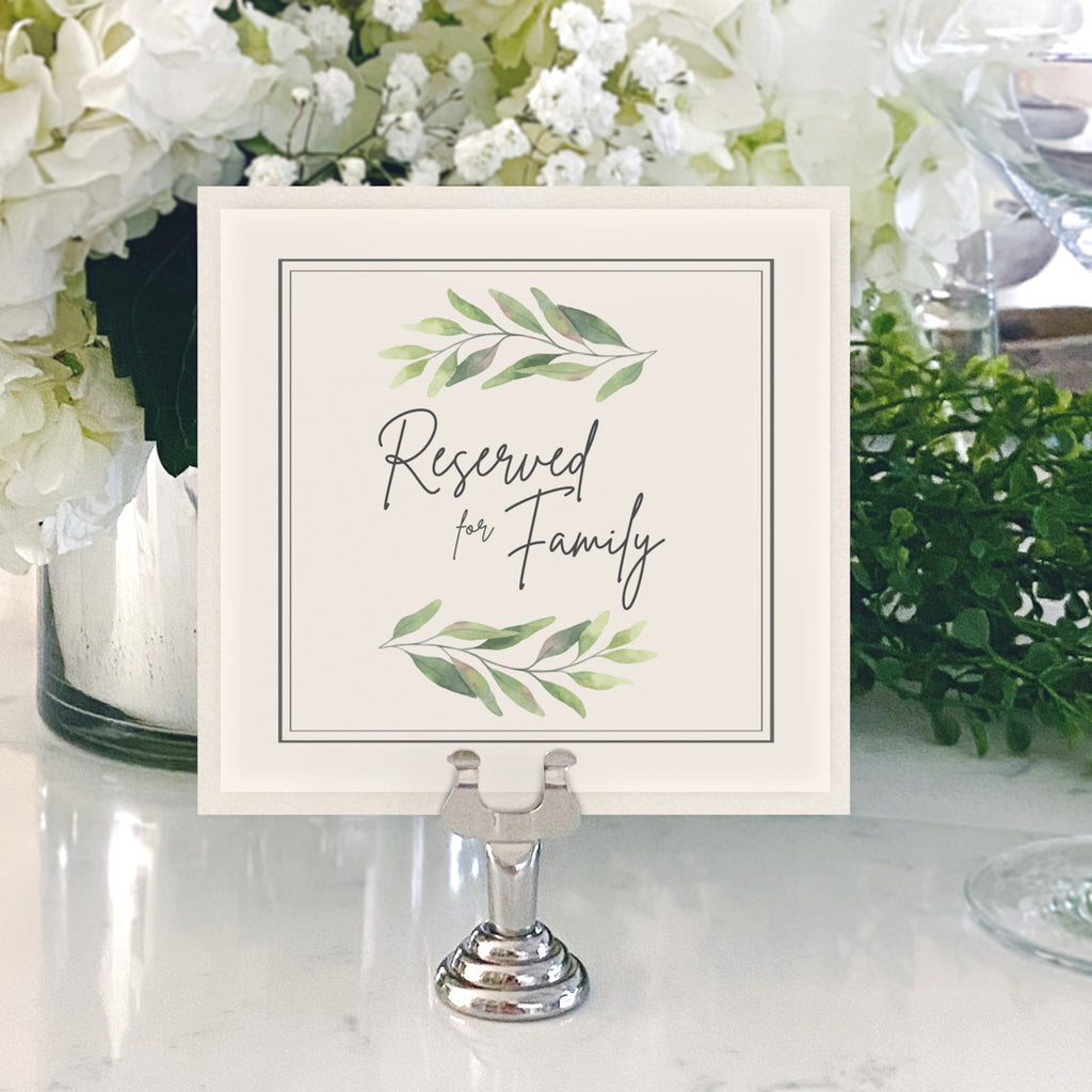 Table Numbers and Reserved Signs [Jessica]