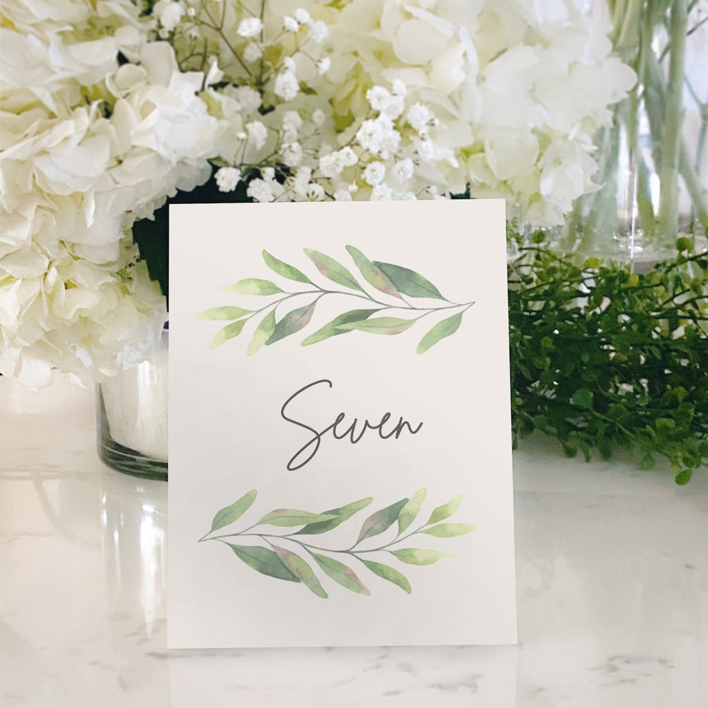 Table Tent Numbers, Reserved and Bar Signs [Jessica]