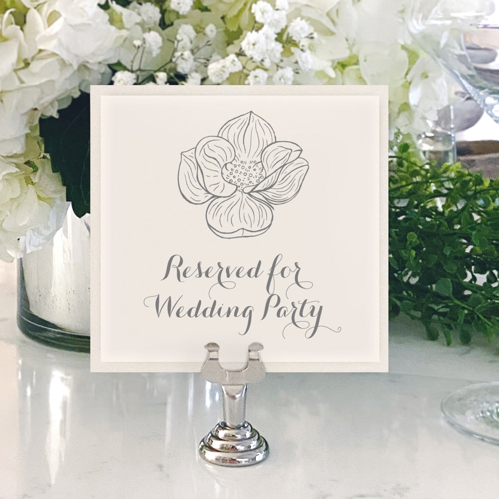 Table Numbers and Reserved Signs [Maggie]
