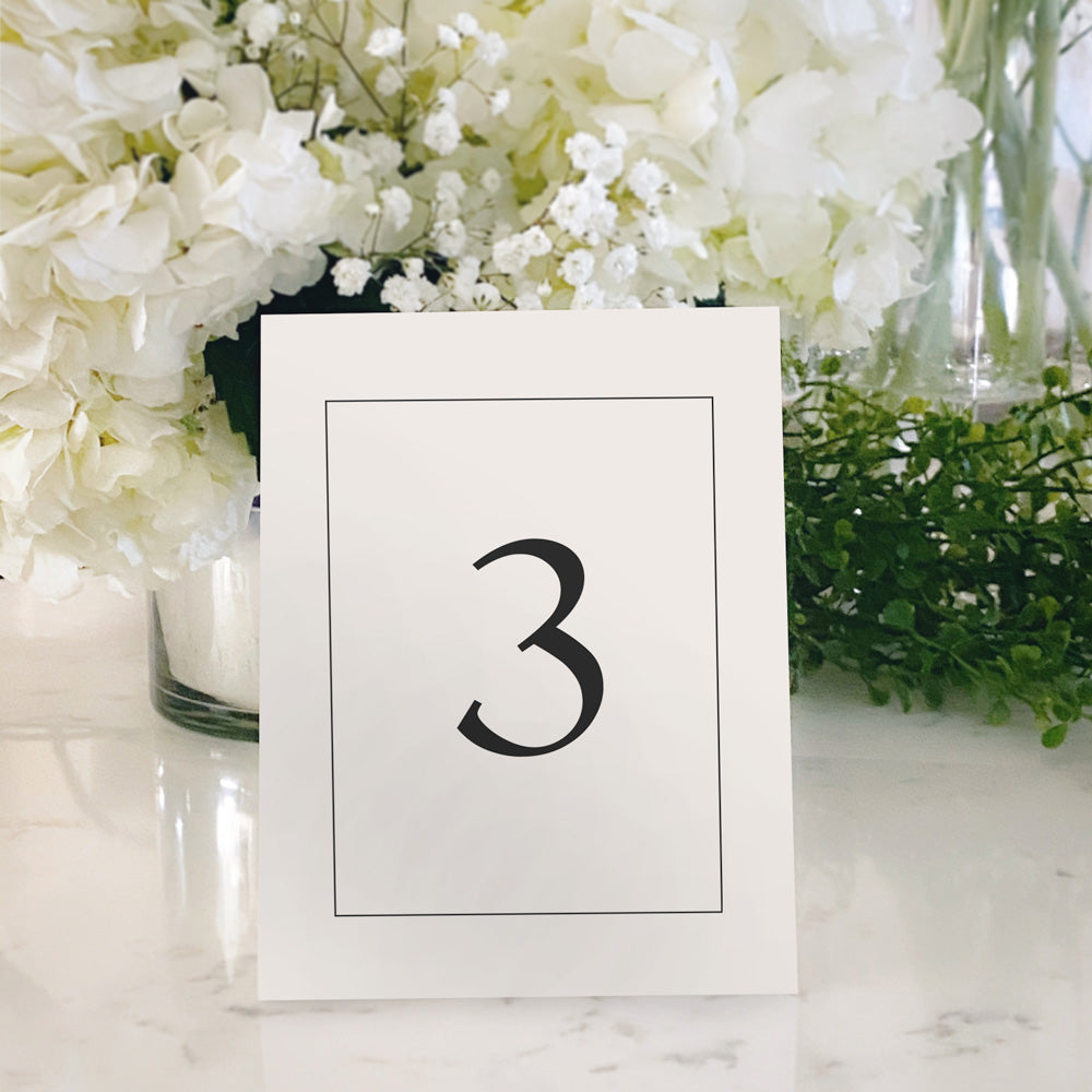 Table Tent Numbers, Reserved and Bar Signs [Riley]