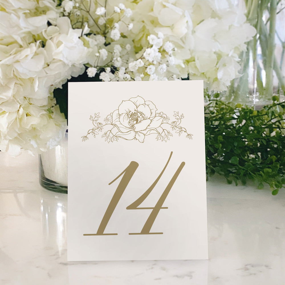 Table Tent Numbers, Reserved and Bar Signs [Rosie]