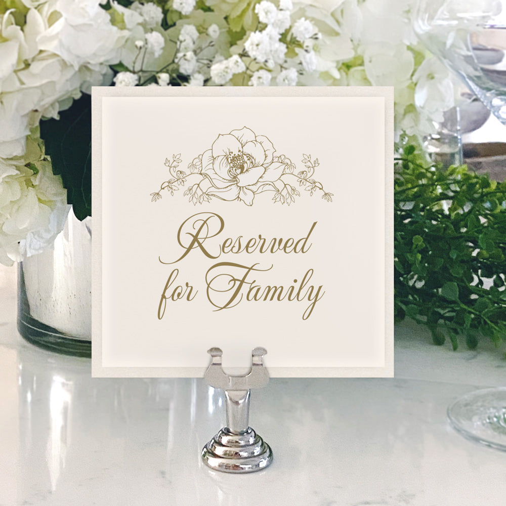Table Numbers and Reserved Signs [Samantha]