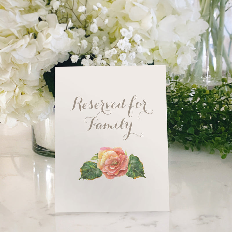 Table Tent Numbers, Reserved and Bar Signs [Sarah]