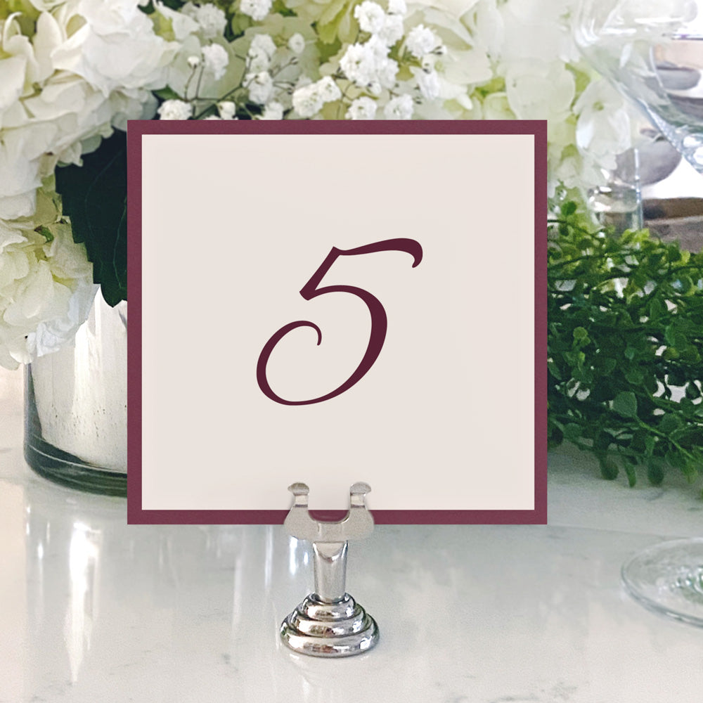 Table Numbers and Reserved Signs [Vivian]