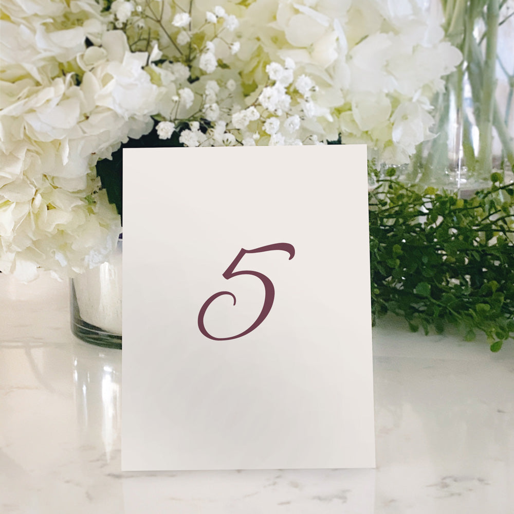 Table Tent Numbers, Reserved and Bar Signs [Vivian]