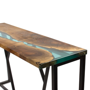 Turquoise Console Table - Terra Garage