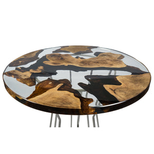 Walnut Circular Table - Terra Garage
