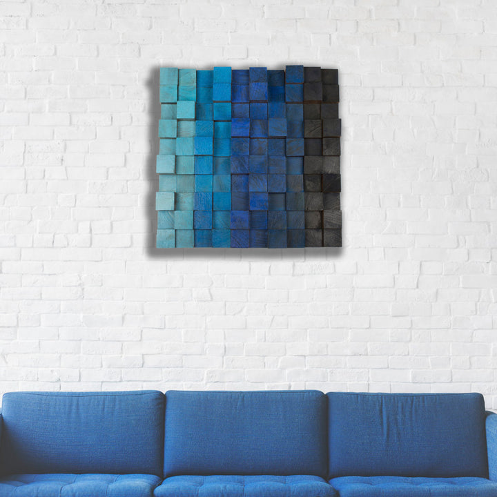 Wooden Pixel Wall Art - Terra Garage