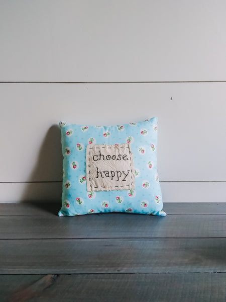 """Choose Happy"" Pillow"