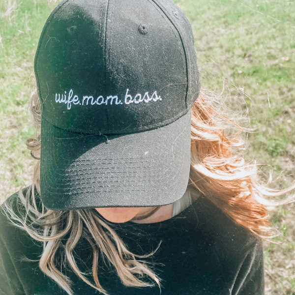 Wife. Mom. Boss. // Black Hat