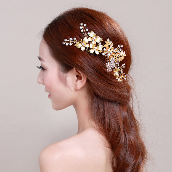 Gorgeous 3 Pieces Gold color Hairwear