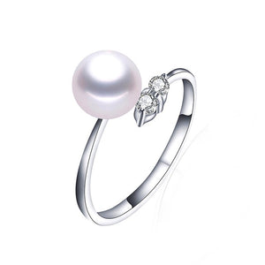 Featured Ring - Unique Pearl Ring made of Glitzy White/Black/Purple/Pink Natural Pearls