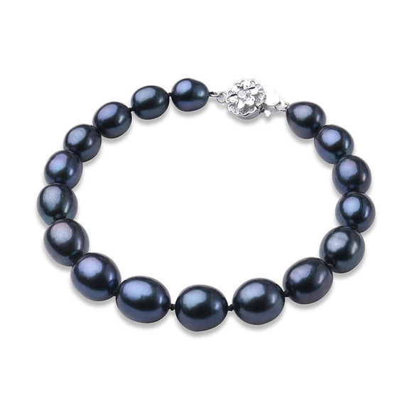 Fancy Pearls Bracelet - Natural Black Freshwater Pearls