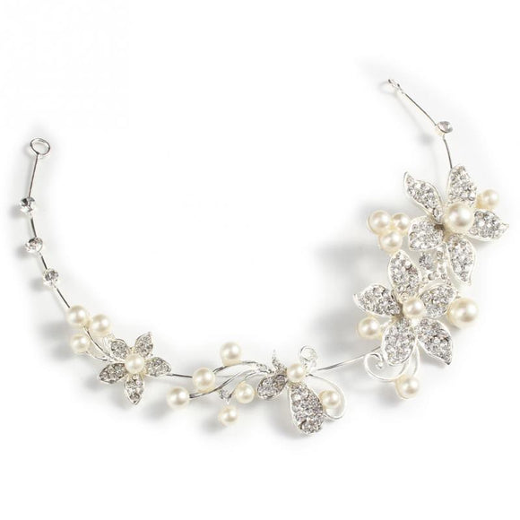 Charming Pearls and Crystal Wedding Hair Accessory