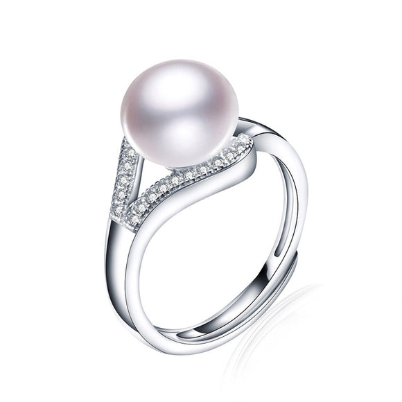 Adorable Ring made with Charming Natural Pearl & Sterling Silver