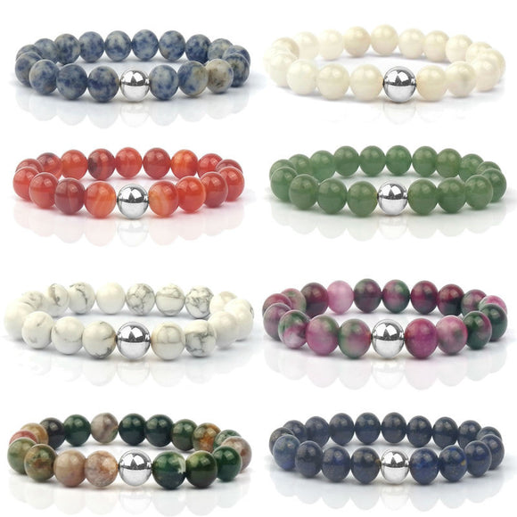 Stylish Pearly Stone Bracelets