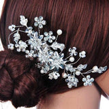 Stylish Crystal Pearl Flower Hair Clips