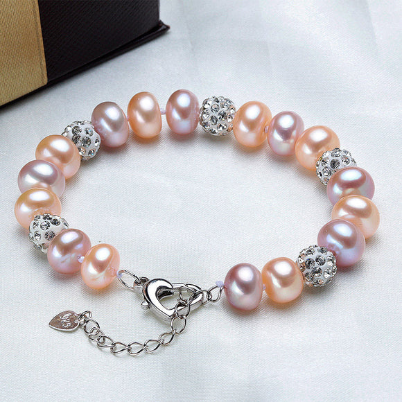 Unique Multicolored Natural Freshwater Pearls Bracelet